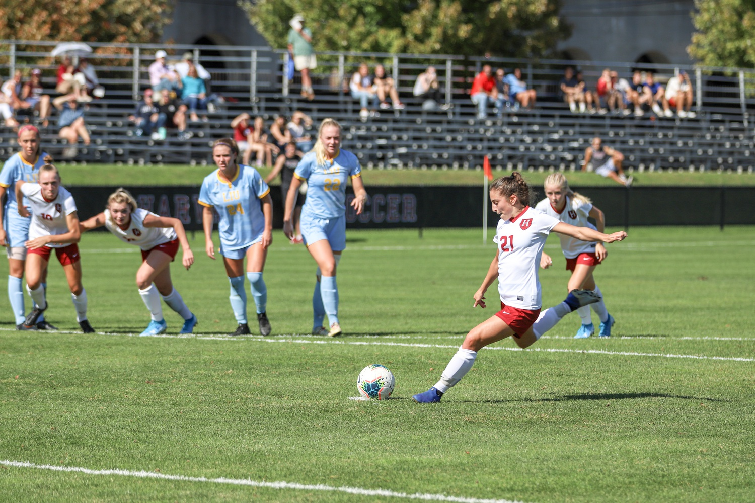The Crimson cruised to a weekend win over LIU.