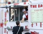 Bacon Truck Serves Food