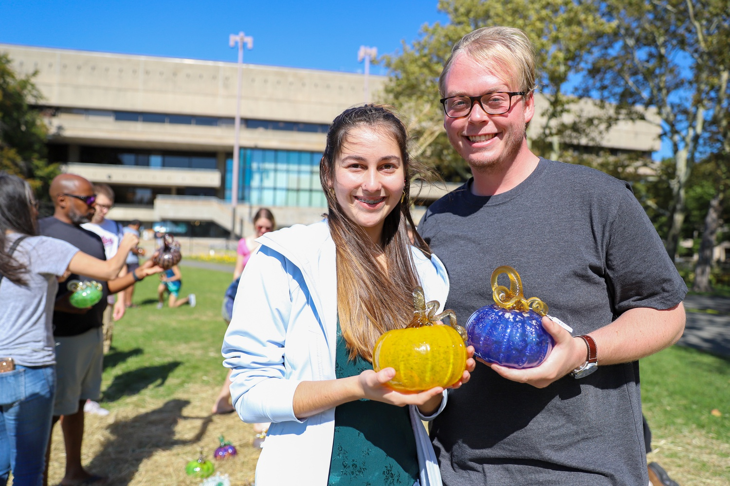 William B. Dahl and Melina P. Torres, PhD students of Molecular and Cellular Biology at Brandeis University, attended the event for the first time.