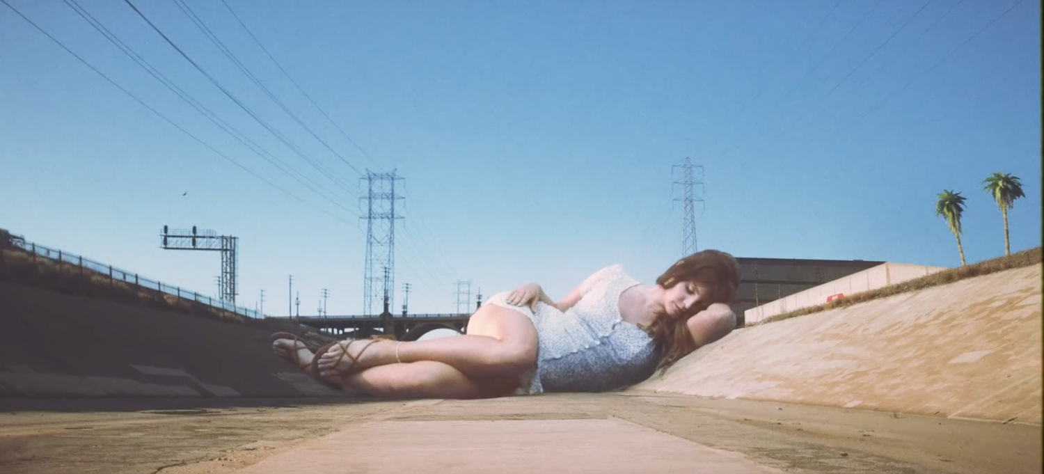 "Still from Lana Del Ray's ""Doin' Time"" music video."