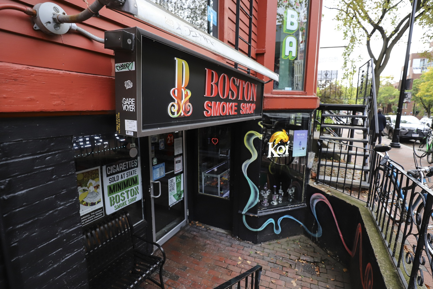 Massachusetts' emergency ban on the sale of all vaping products will affect businesses like Boston Smoke Shop, which is located on JFK Street near Harvard Square.
