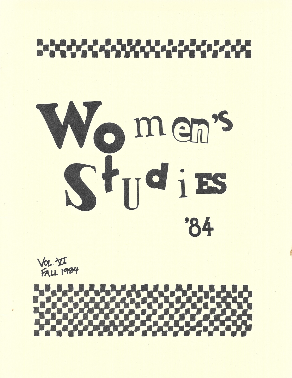 The Radcliffe Union of Students made its own women's studies course catalogs in the early 1980s.
