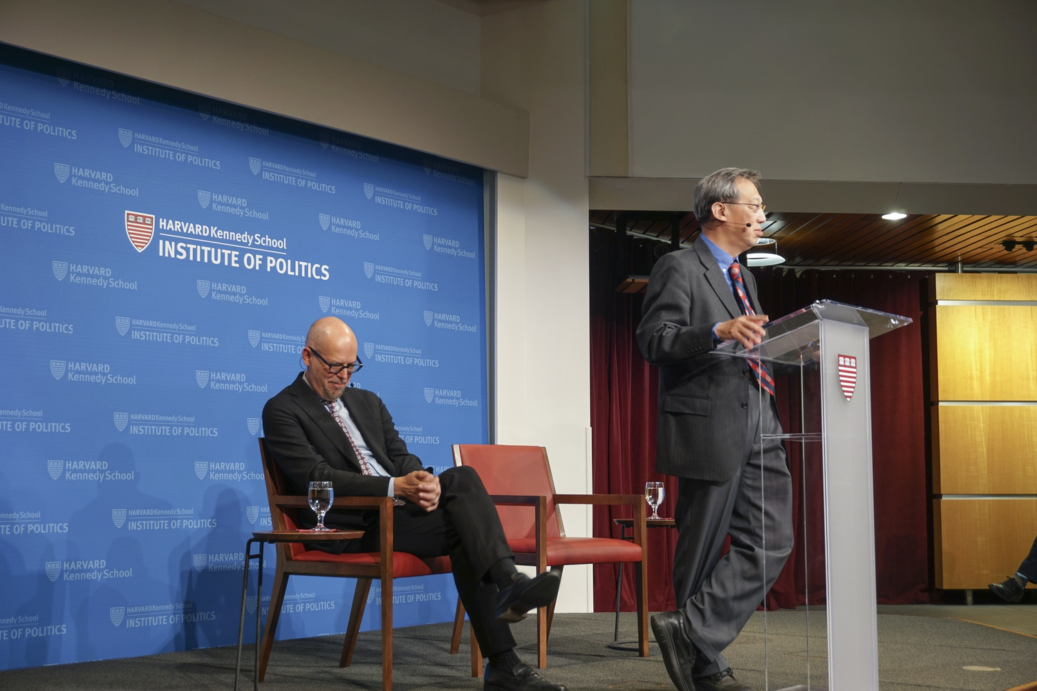 Chen Jian, a Professor of History at Cornell, spoke at the JFK Jr. Forum about China and his forthcoming book about Zhou Enlai Monday evening.