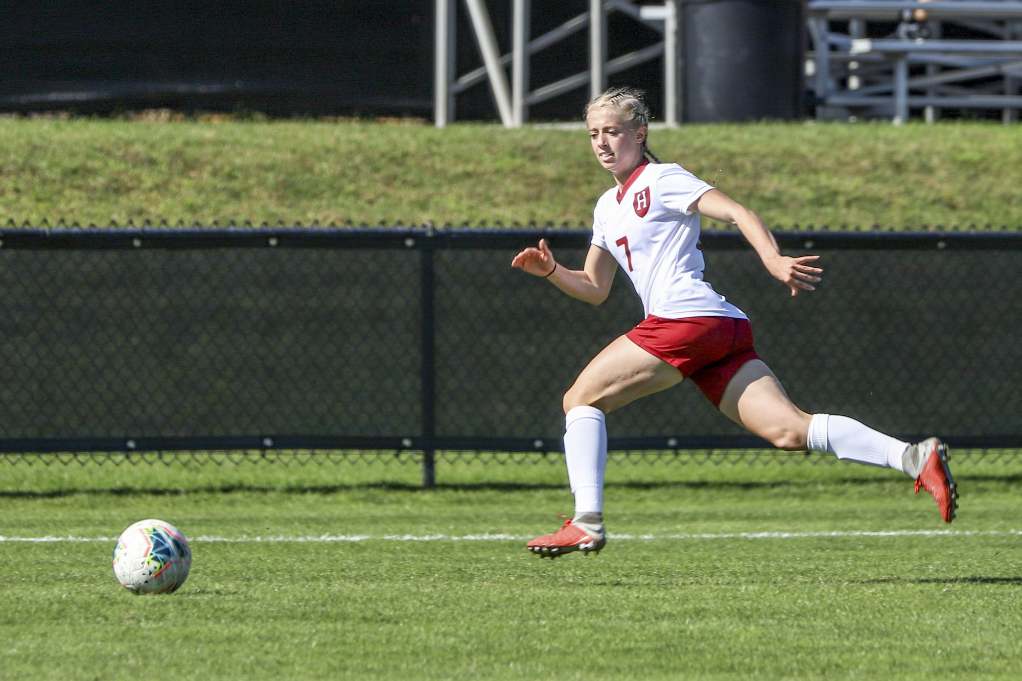 Soccer co-captain Megan Tveit is one of six roommates in Adams House, who are all captains of varsity teams.