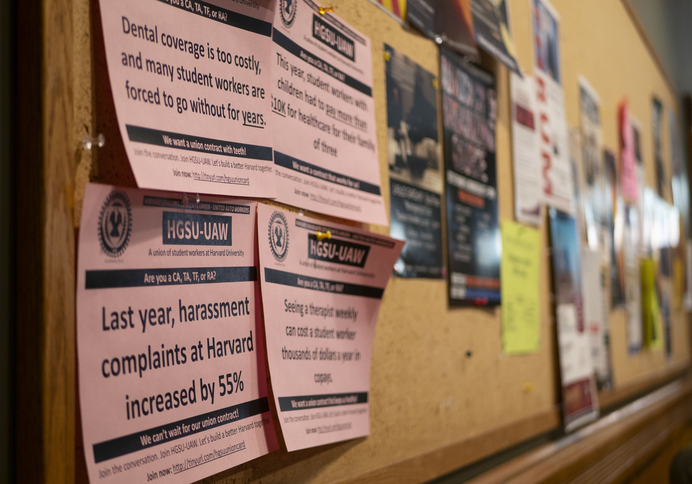 On Tuesday, the Harvard Graduate Students Union announced it would hold a strike authorization vote next week.