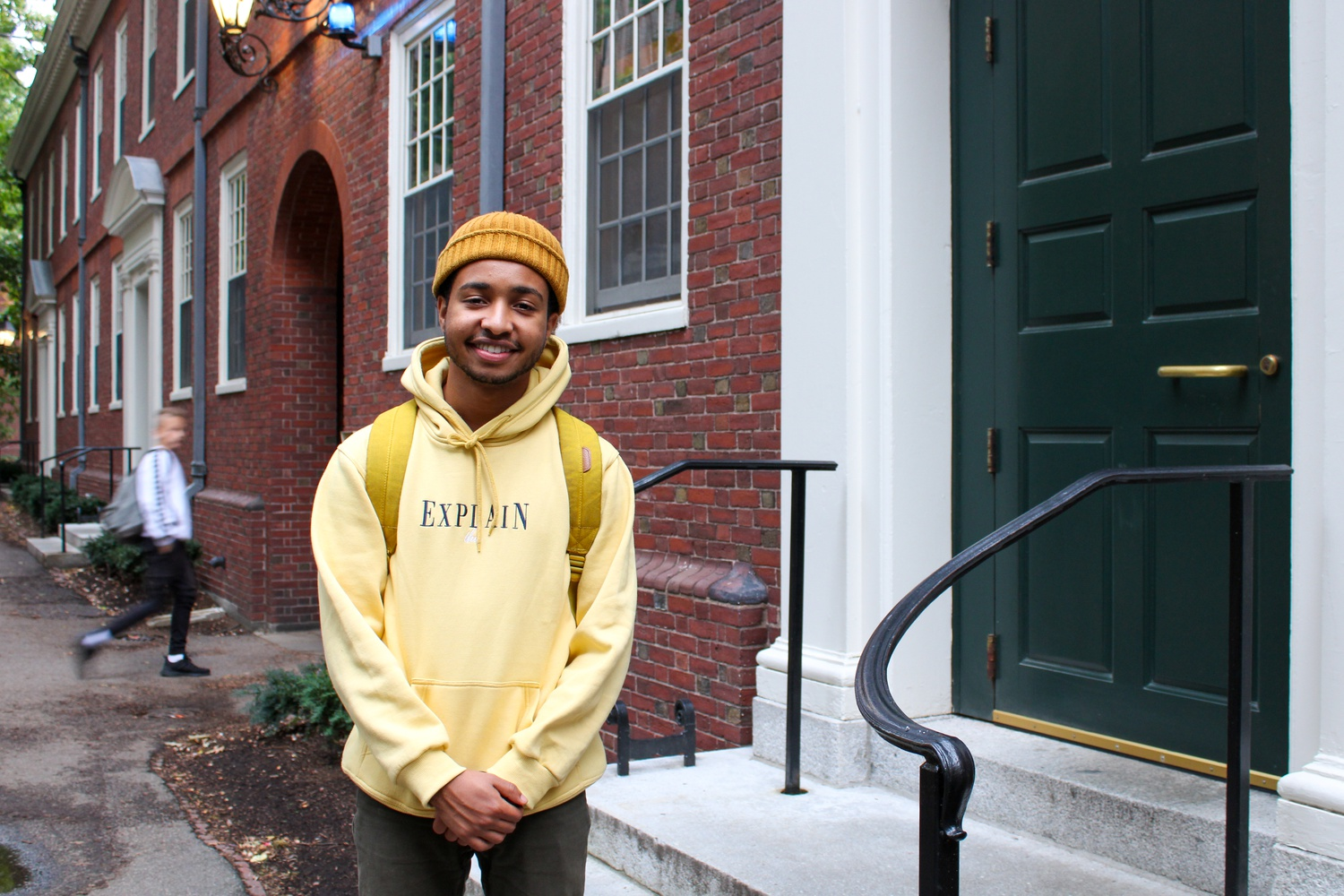 Ibrahim Ibrahim, currently a sophomore in Eliot, partcipated in Fall Clean-Up and FYRE as a first-year.