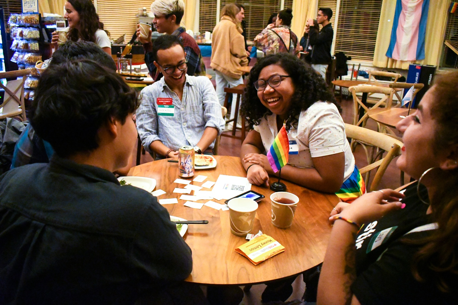 BGLTQ student and allies celebrated National Coming Out Day at OUTspoken, an open mic and social event Friday.