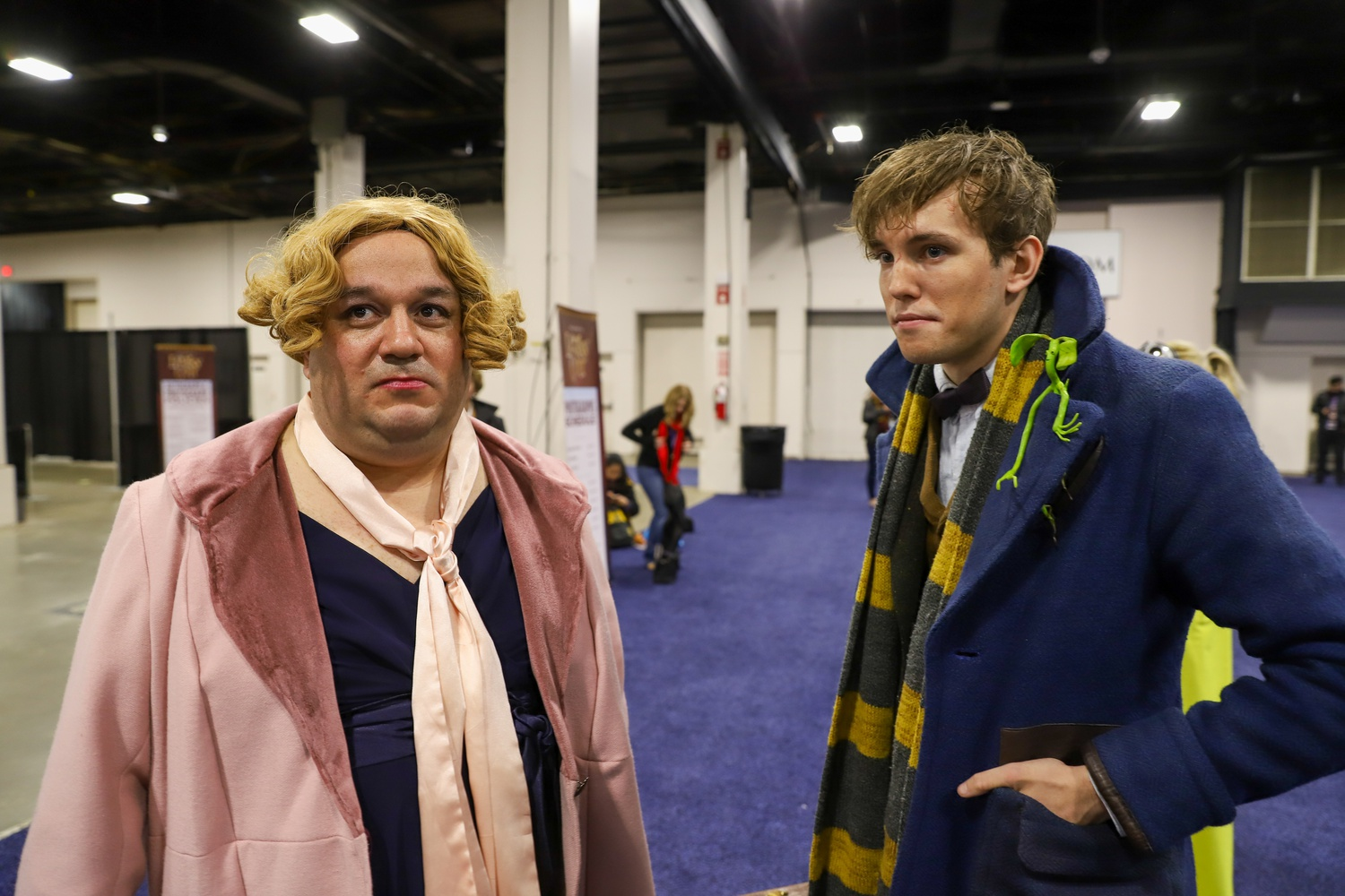 """Dank G. Marletto and Jay McDougall, cosplaying as Queenie Goldstein and Newt Scamander, have attended numerous LeakyCon over the past few years, Marletto noting """"Harry Potter is home. It's where I found that I just belong""""."""