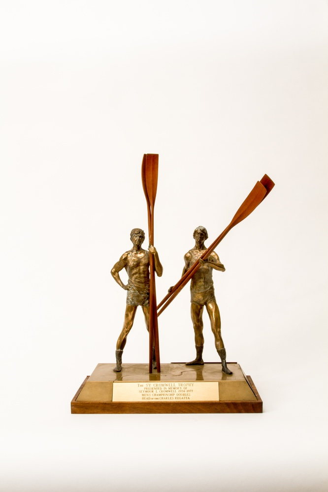 The Sy Cromwell trophy is awarded to the winner of the men's championship doubles.