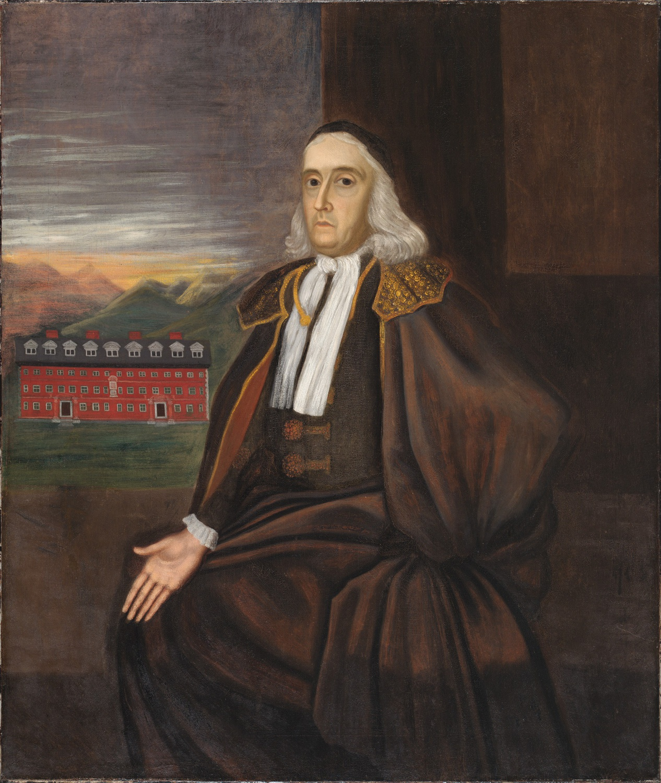 Unidentified artist, William Stoughton, c. 1700. Oil on canvas. Harvard University Portrait Collection, Gift of John Cooper to Harvard College, 1810, H37.