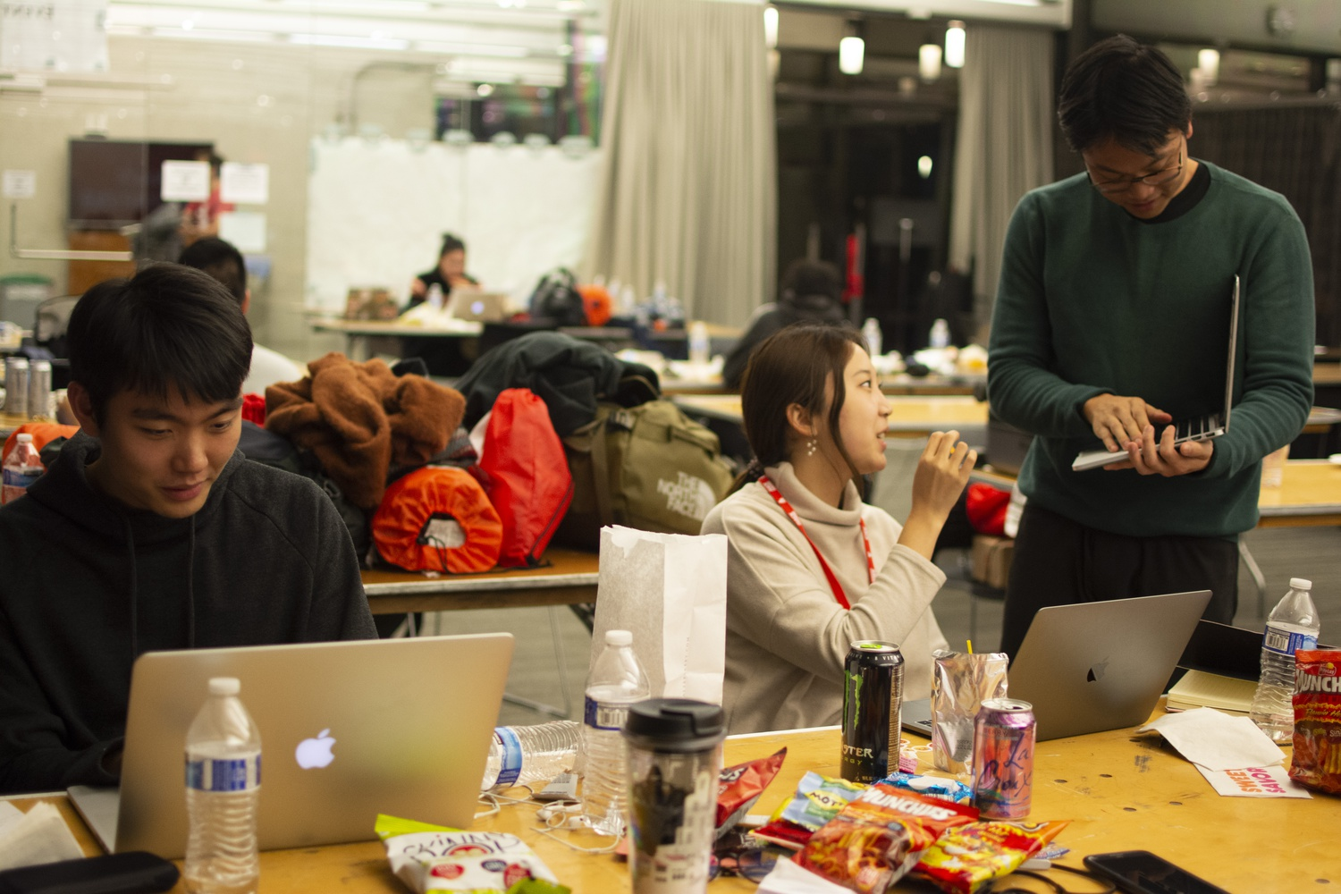 Students from various schools, including RISD and MIT, worked on different projects, including an AI-based app that would send users self-care reminders.