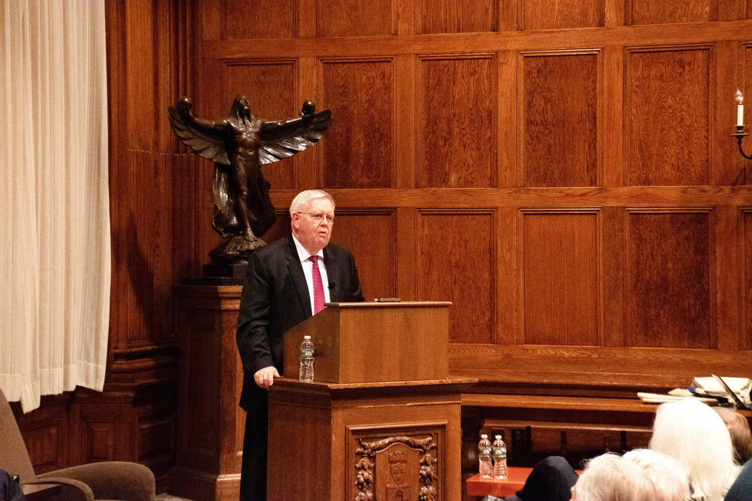 Former United States Ambassador to Ukraine John F. Tefft spoke about the United States's relationship with Ukrainian at an event in the Barker Center Monday evening.