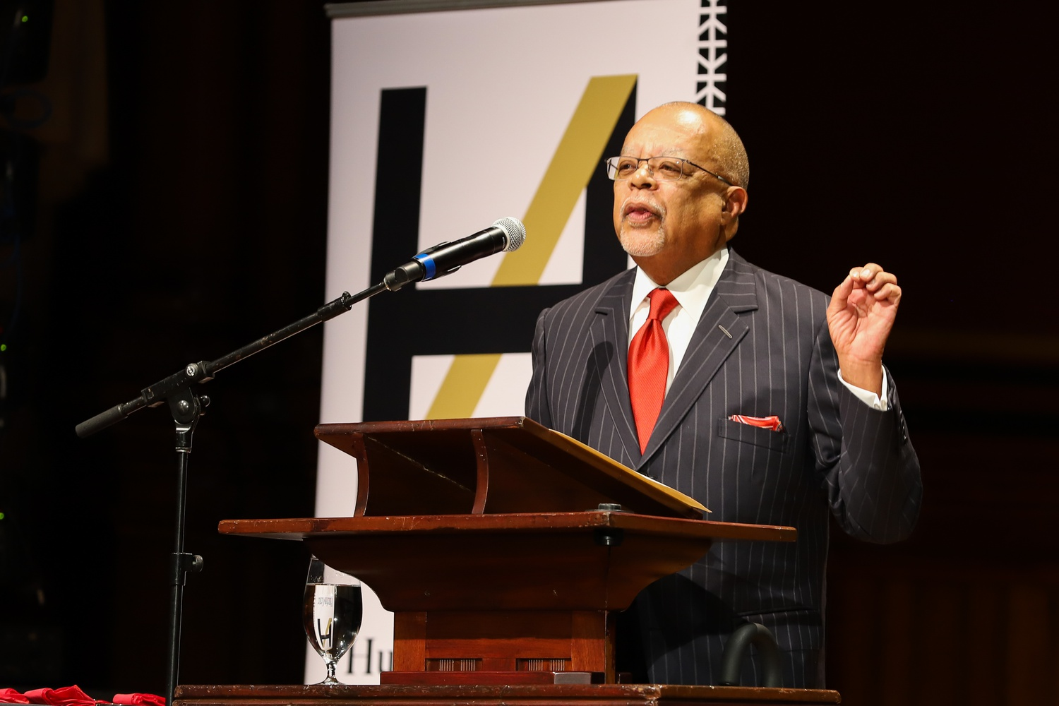 University Professor Henry Louis Gates, Jr. speaks at the W.E.B. Du Bois Award Ceremony in 2019. The American Academy of Arts and Sciences awarded Gates its Don M. Randel Award for Humanistic Studies on Wednesday.