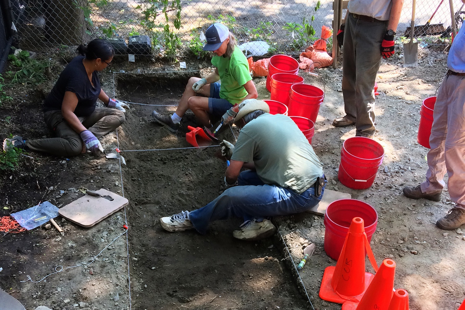 Volunteers excavated over 6 feet of earth during Boston's first archaeological dig of Chinatown.