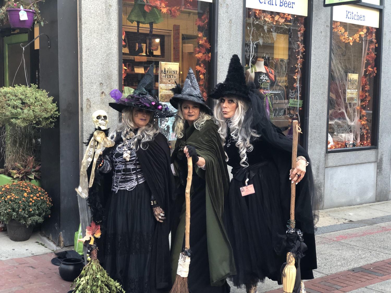 Halloween revelers gather in Salem, Mass. in 2019.