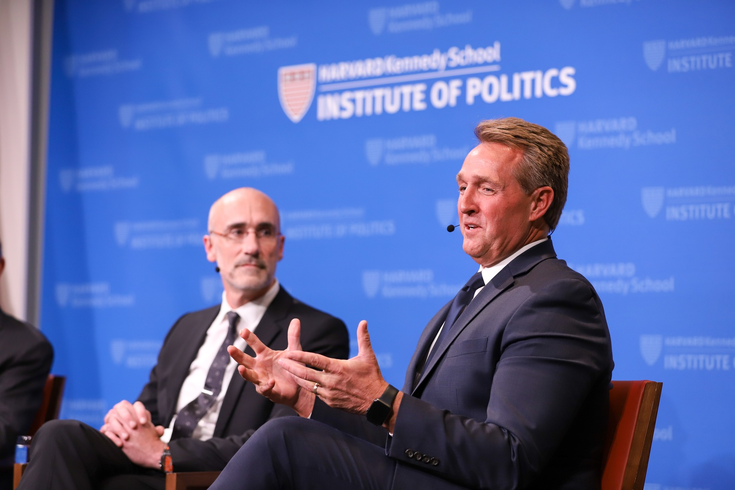 U.S. Senator Jeff Flake speaks with George F. Will, Arthur Brooks, and Alice Stewart to discuss the role of conservatism and its new connotations in today's politics.