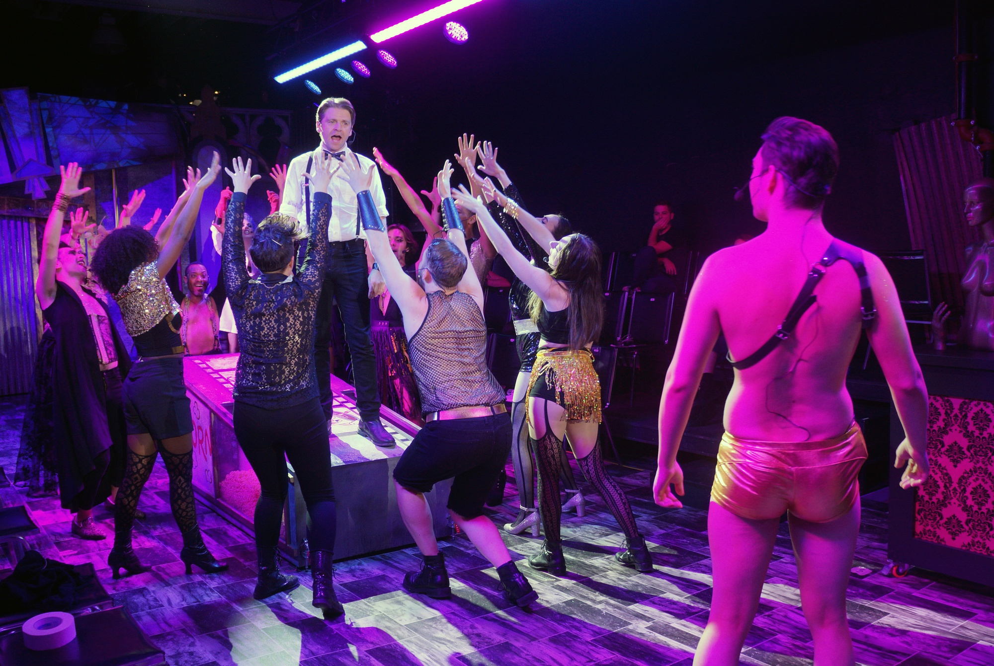 """""""The Rocky Horror Show"""", a live theatre production in Harvard Square, runs Oct. 17 to Nov. 2 at 25 Brattle Street, a prime retail space that has been vacant since December 2016."""