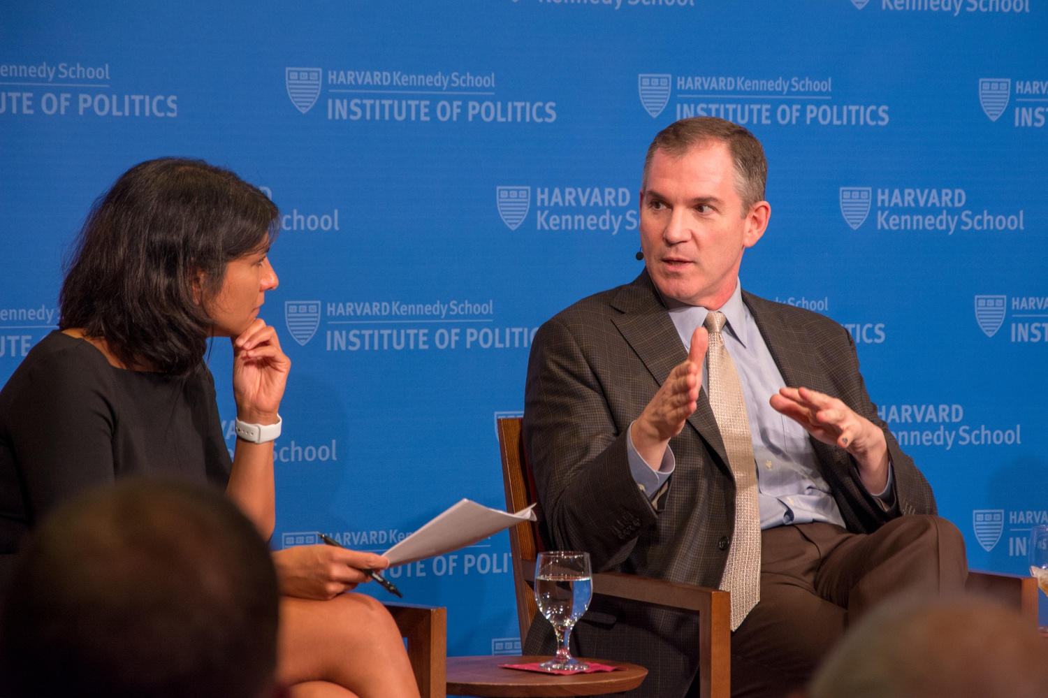 Frank Bruni from the New York Times spoke at the IOP on Wednesday evening alongside University of Chicago's IOP Director David Axelrod, The Cook Political Report National Editor Amy Walter and Professor Maya Sen about the 2020 presidential Election.