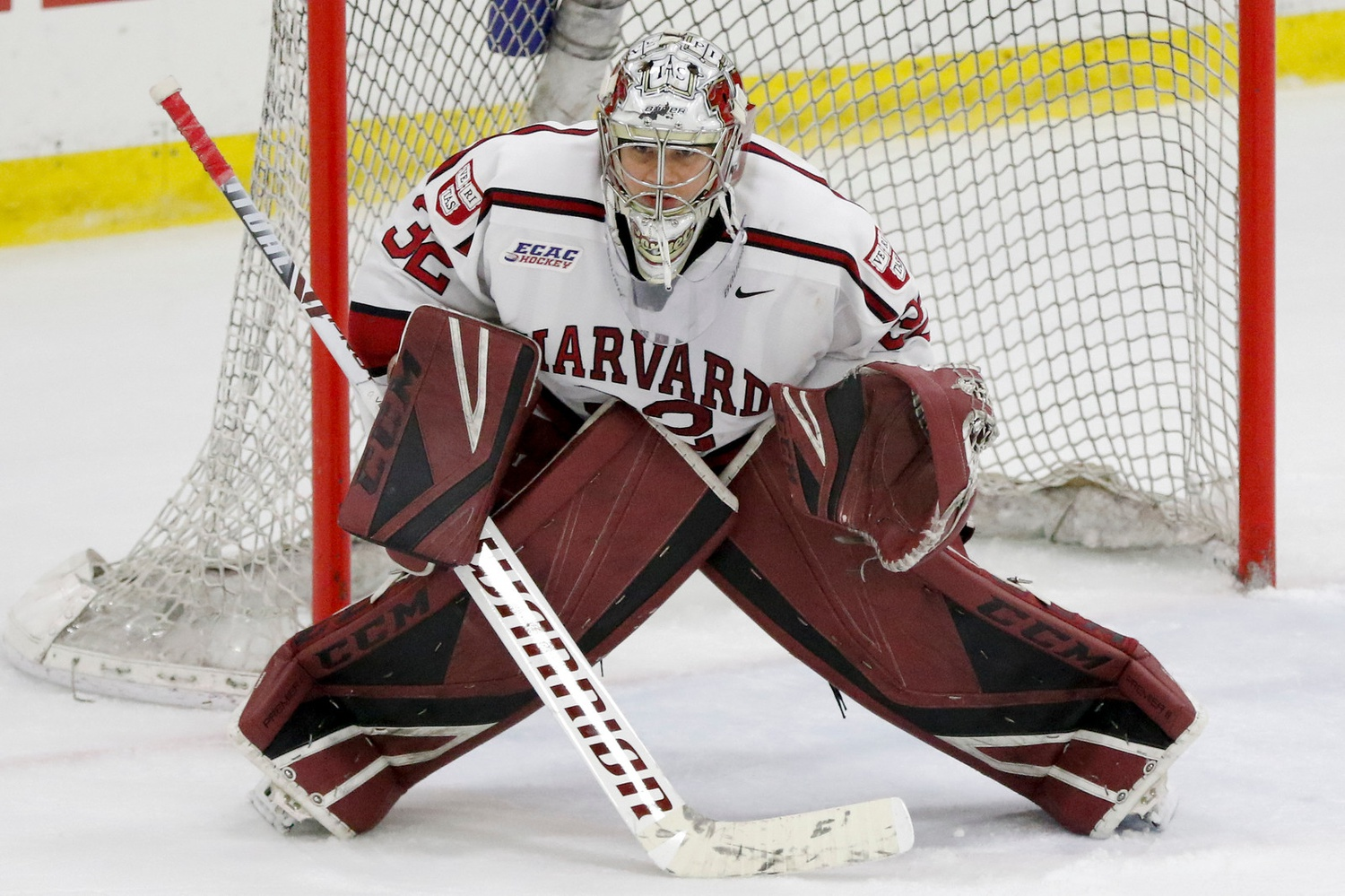 Senior Cameron Gornet has earned the starting role in net to begin the season. His crucial play late last year propelled the Crimson to key wins in its run to the NCAA Tournament.