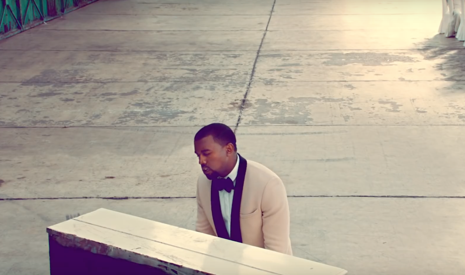 """Kanye West plays piano in a short film for single """"Runaway."""""""