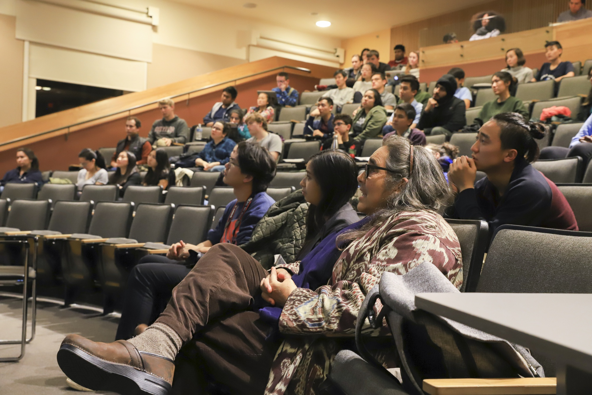 Members of the Harvard community attend a discussion on the Thirty Foot Telescope, which is proposed to be placed on Mauna Kea in Hawaii. The project is controversial due to its infringement on the use of indigenous land and potential ecological repercussions.