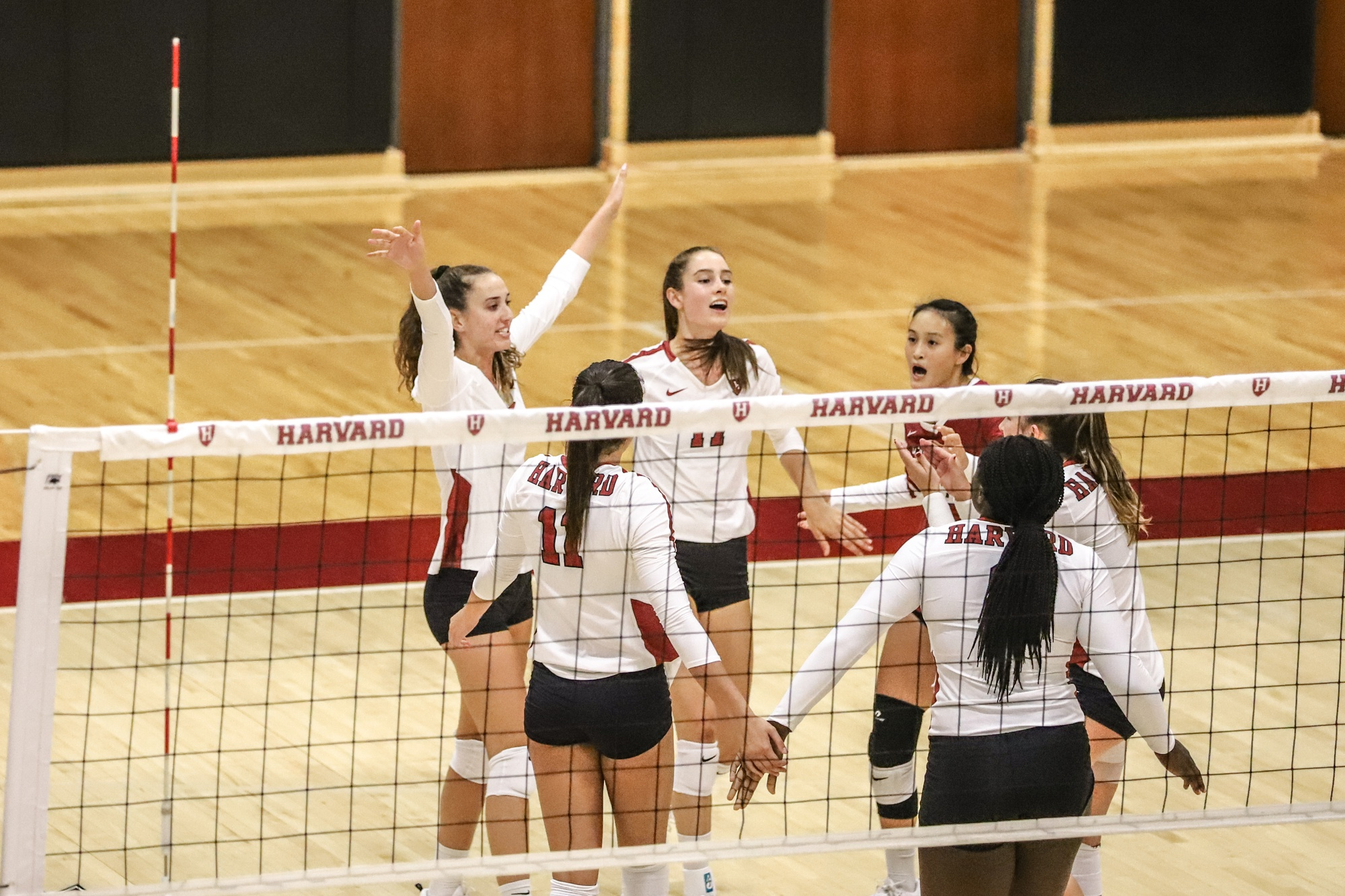 The Crimson upset Yale on Saturday after previously falling to the Bulldogs in straight sets.