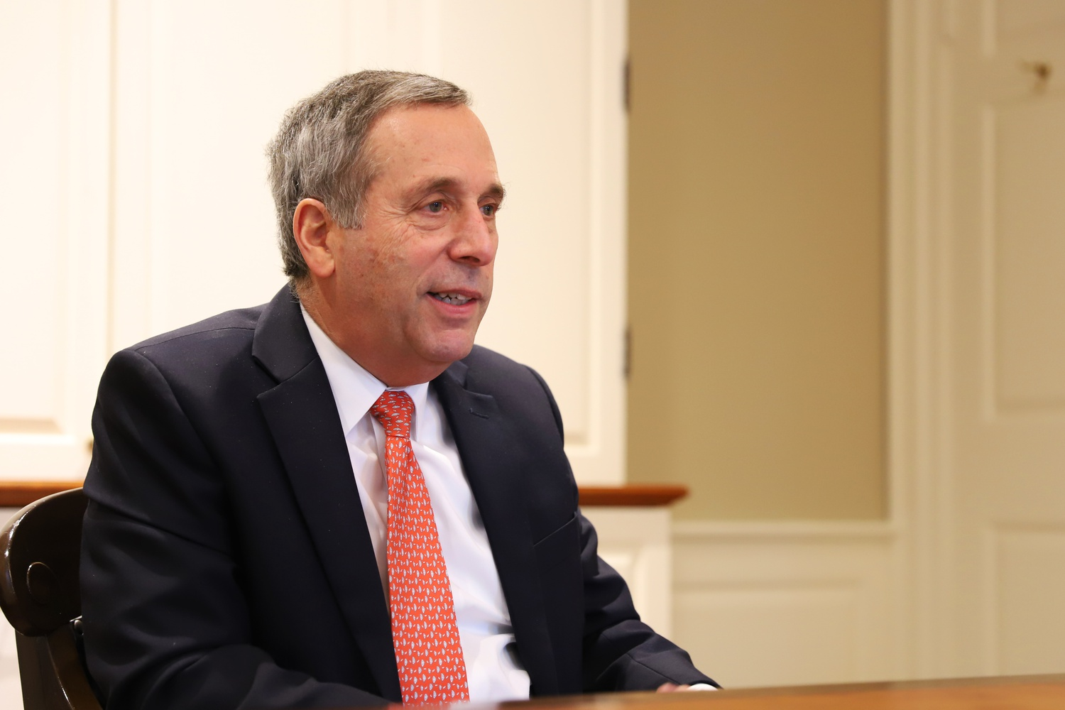 University President Lawrence S. Bacow's office is located inside Massachusetts Hall.