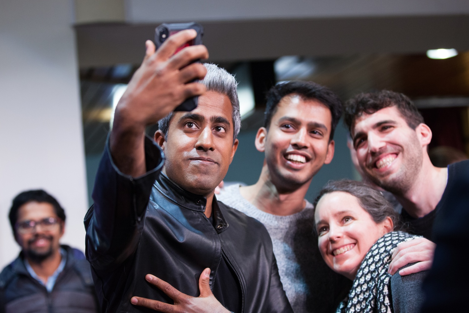 Anand Giridharadas, the author of Winners Take All, poses for a photo at the JFK Jr. Forum Tuesday night.