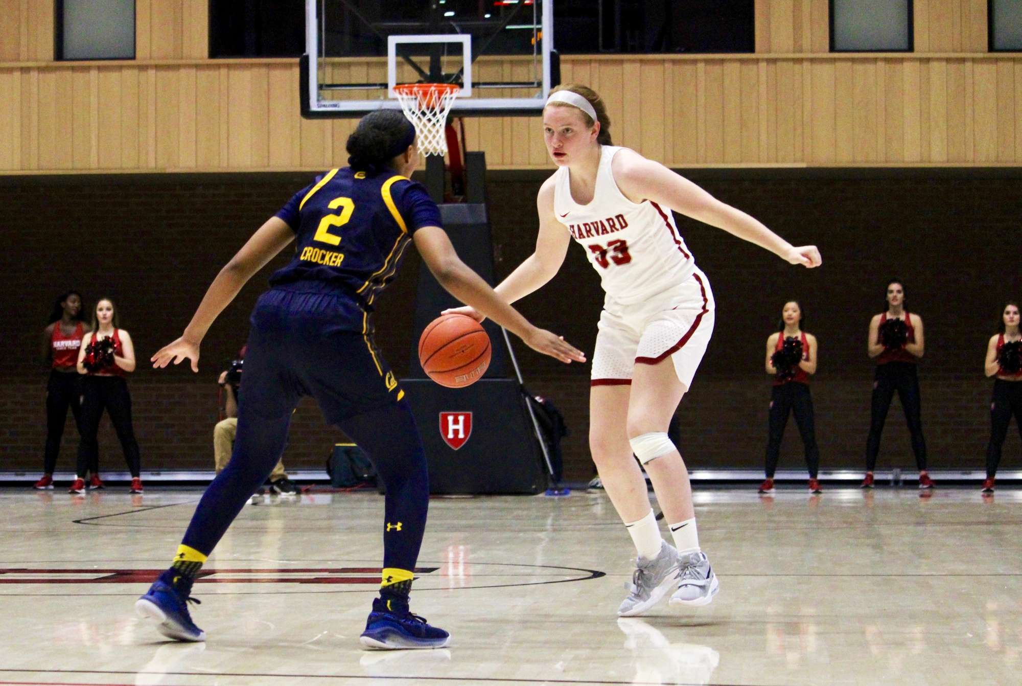 Freshman guard Annie Stritzel scored her first points for the Crimson and finished the game with 7 points.