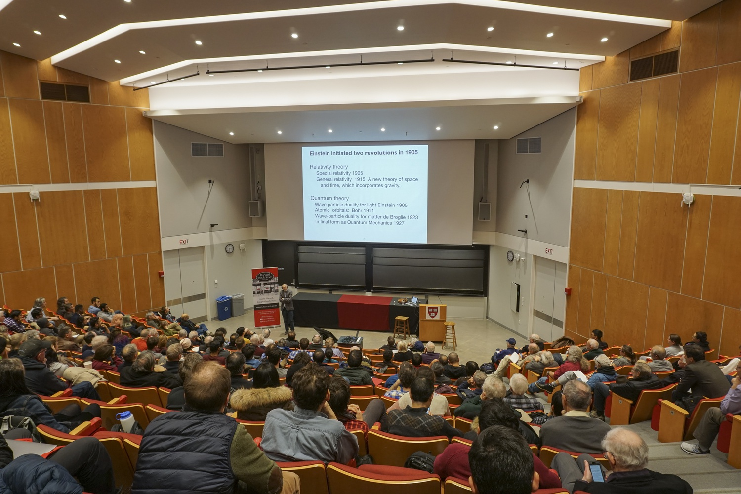 """Lee Smolin, author of the recently released book """"Einstein's Unfinished Revolution"""", gives a talk on Wednesday evening in the Science Center. His book discusses Einstein's quantum mechanics and its limitations on our understanding of the world."""