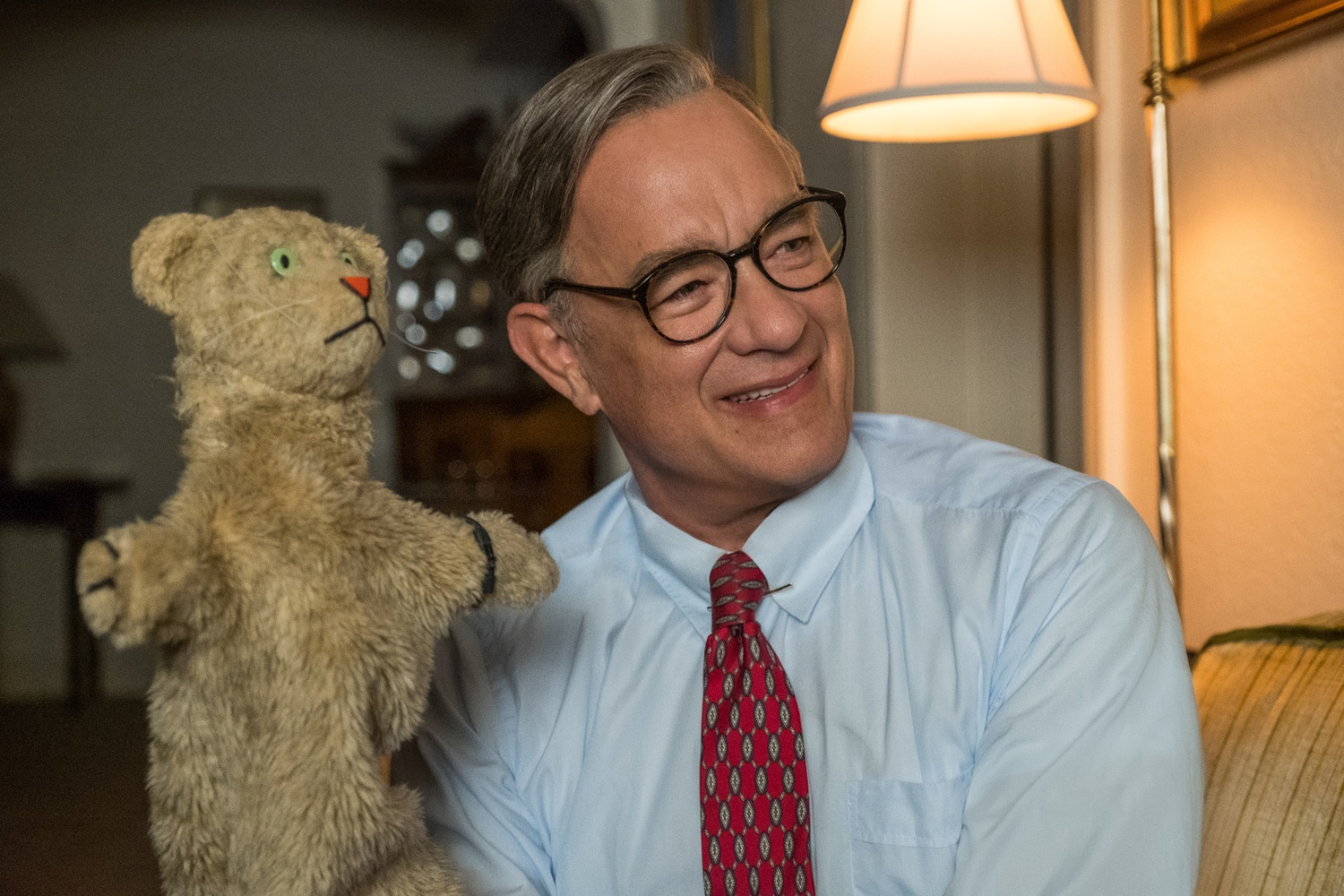 "Tom Hanks stars as Mister Rogers in ""A Beautiful Day in the Neighborhood"" (2019), directed by Marielle Heller."
