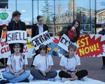 Divest Harvard Oil Pouring Pic