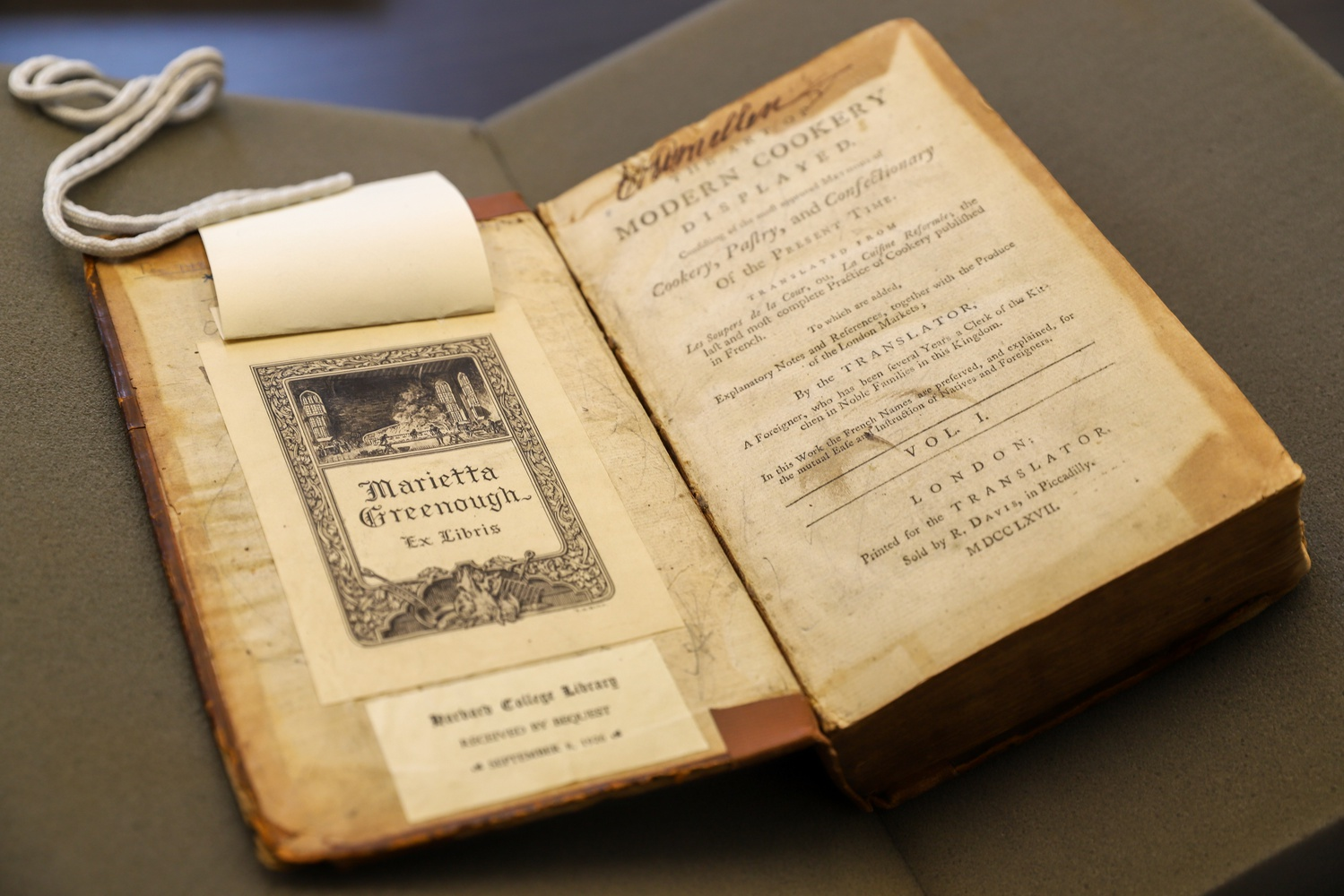 After Marietta Greenough bequeathed her cookbooks to Widener Library in her will, her books made up the bulk of the original cookbook collection at the Harvard Library system.