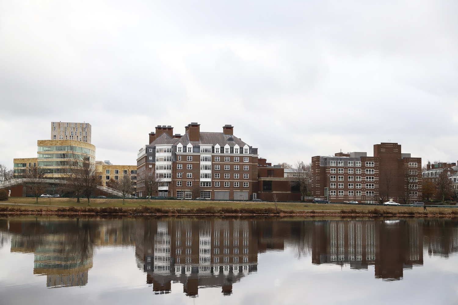 The Harvard Business School campus is located across the Charles River.