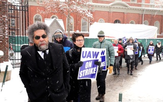 Cornel West at the Strike