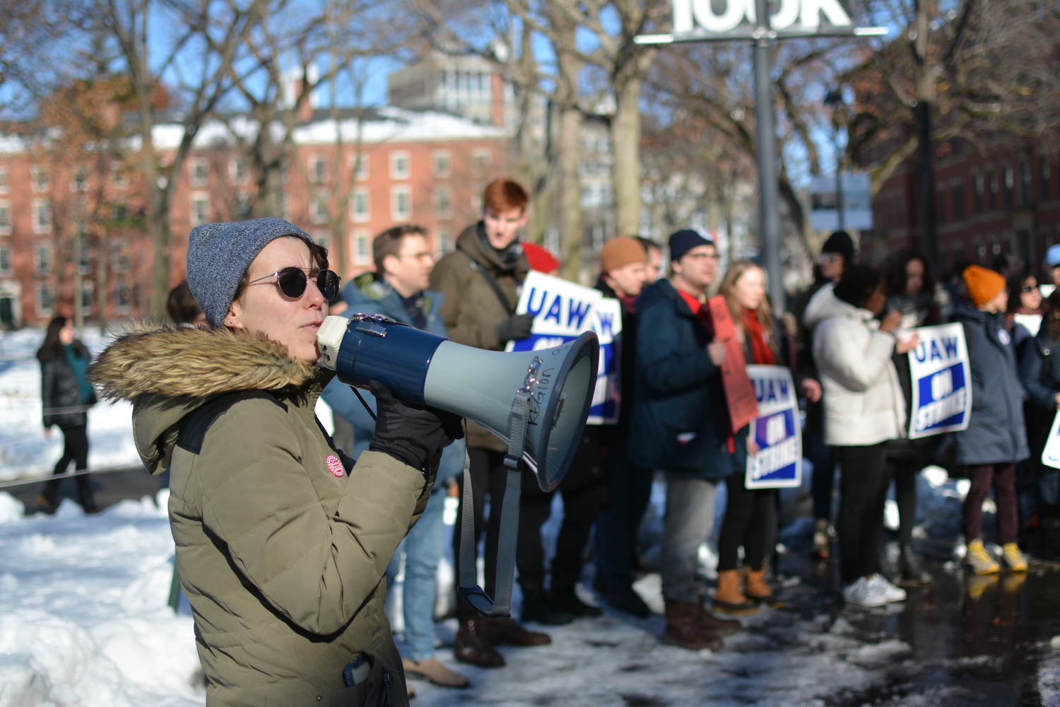 Thursday marked the third full day of the graduate union's strike. At various points local politicians, members of other unions, and University administrators have attended or observed the picket line.