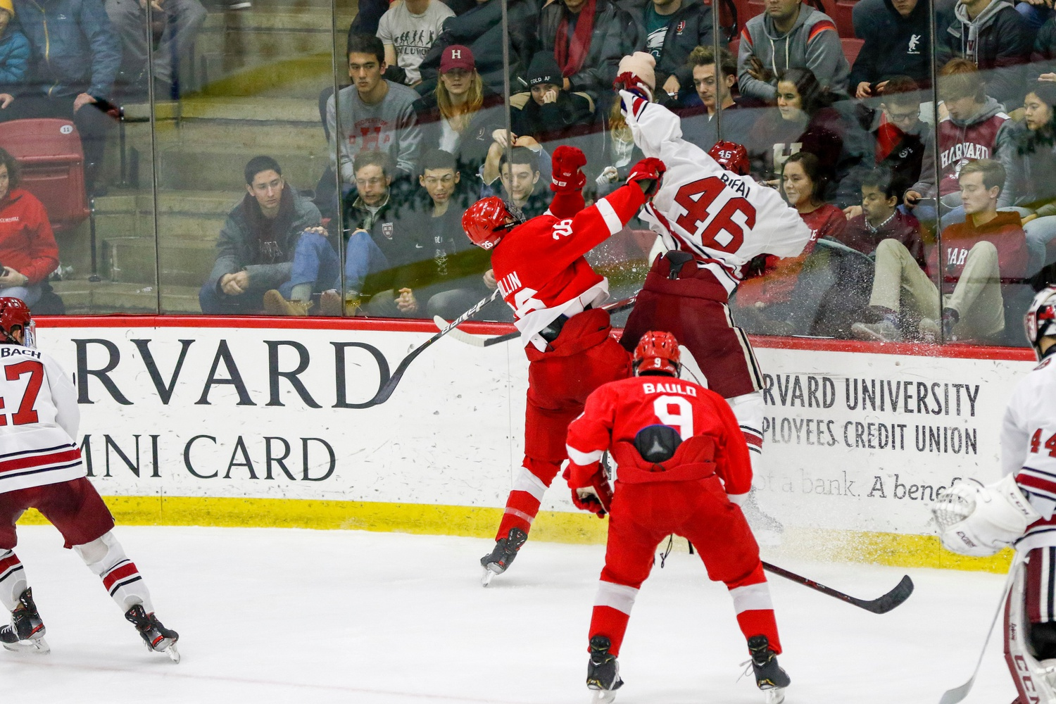 Cornell brought a physical style to the Bright-Landry Hockey Center on Friday. A somewhat undersized team that favors skill to physicality, the Crimson was forced to play a style out of its comfort zone.