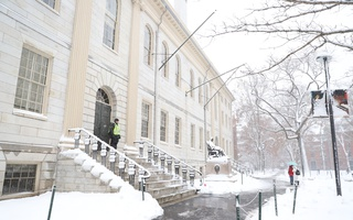 Snowy University Hall