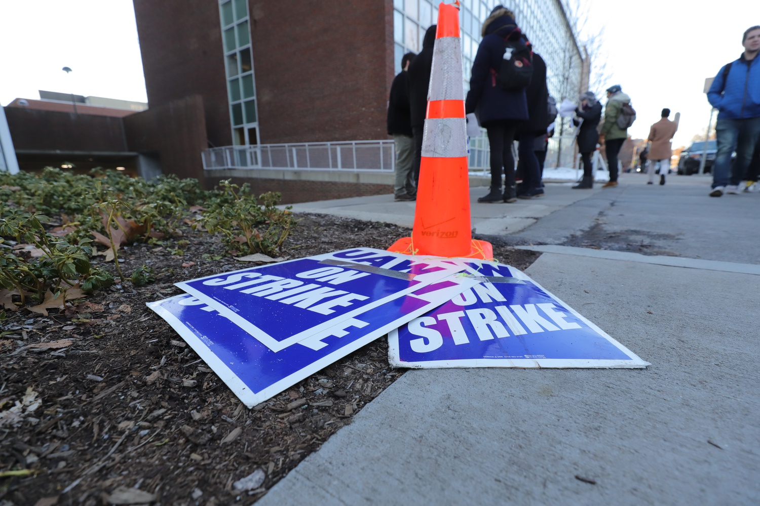 The graduate student union began its indefinite strike Dec. 3.
