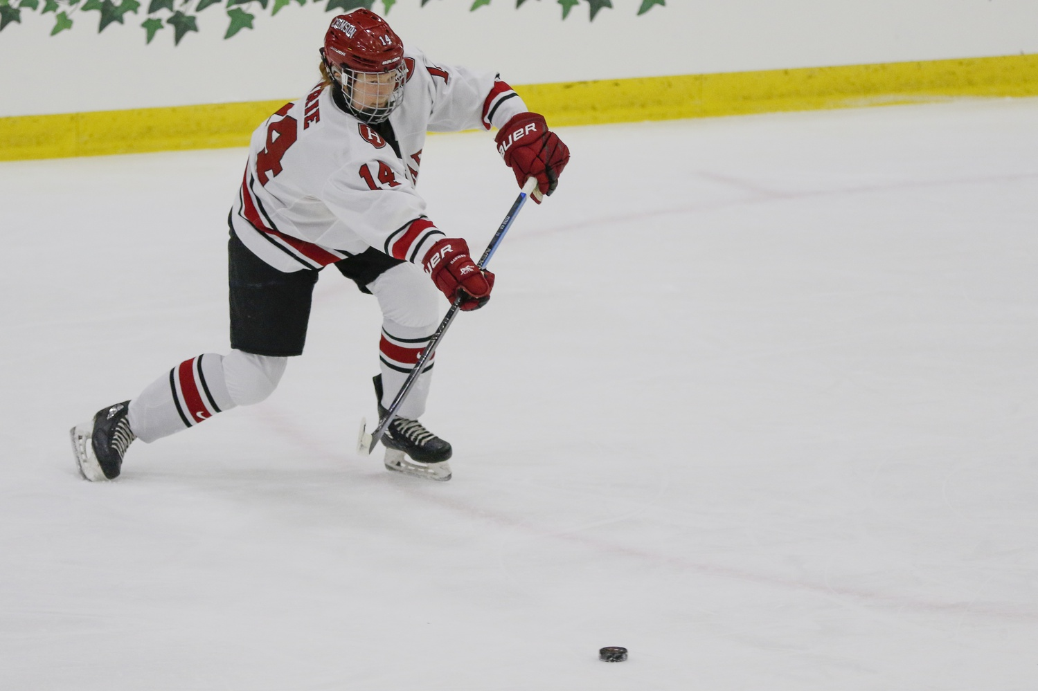 Sophomore forward Dominique Petrie found the scoresheet often against Union and RPI, tallying seven points (four goals, three assists) by the time the weekend was over.
