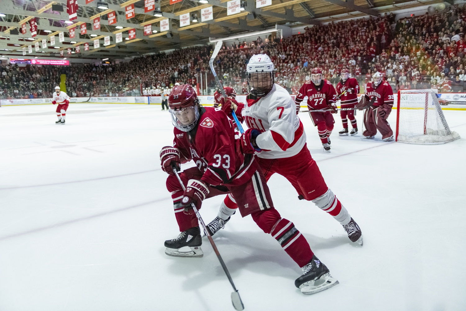 The latest clash between Harvard and Cornell ended in stalemate, despite a late go-ahead goal from Crimson sophomore Jack Drury.