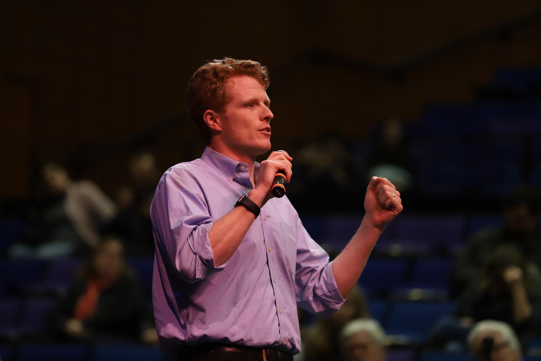 U.S. Representative Joseph P. Kennedy III (D-Mass.) speaks at a forum in January.