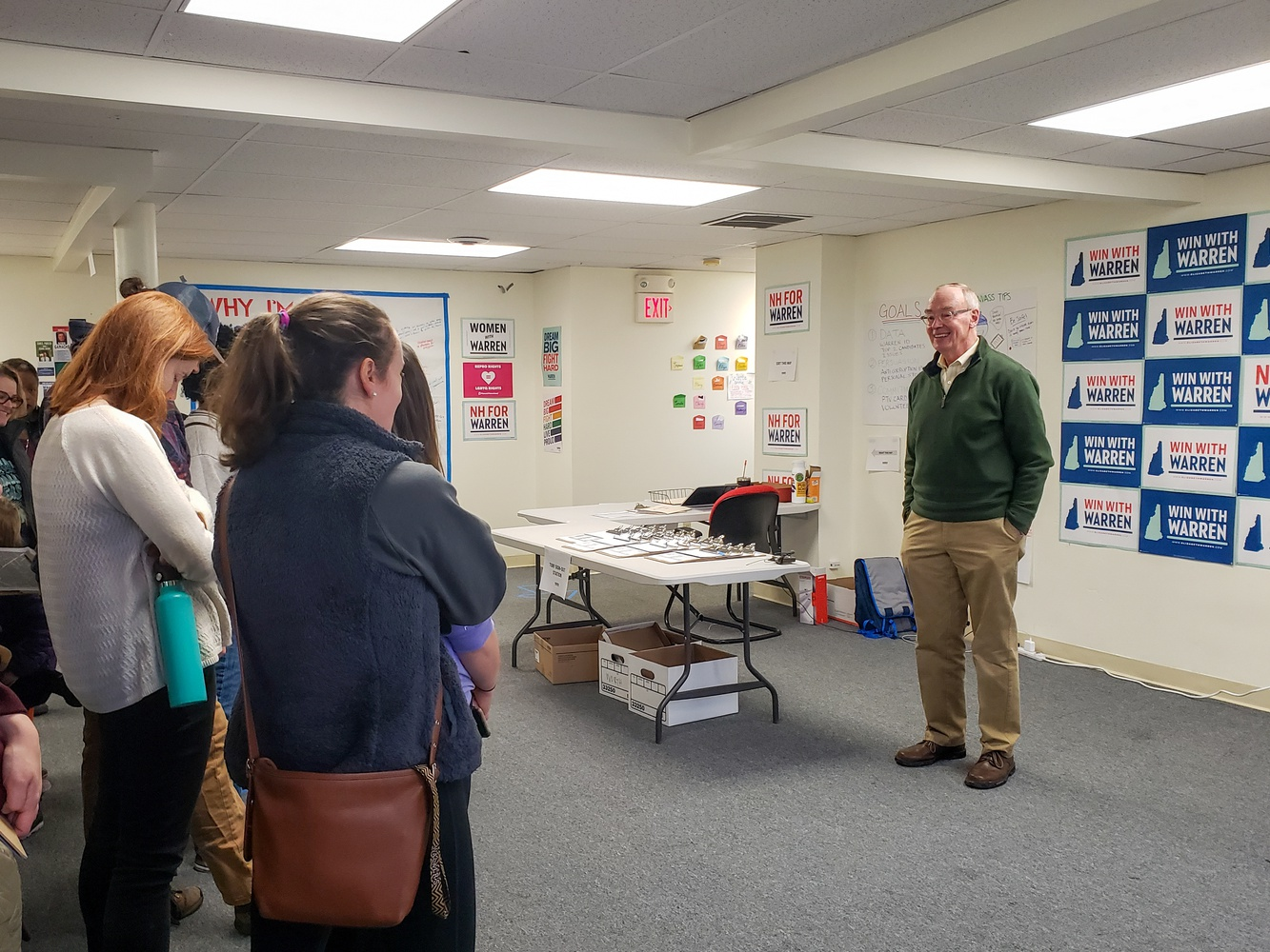 Bruce H. Mann, a professor at Harvard Law School, canvassed for Elizabeth Warren's presidential campaign in New Hampshire.