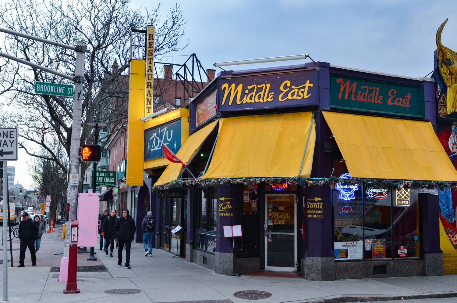 The Middle East Restaurant and Nightclub building is up for sale.