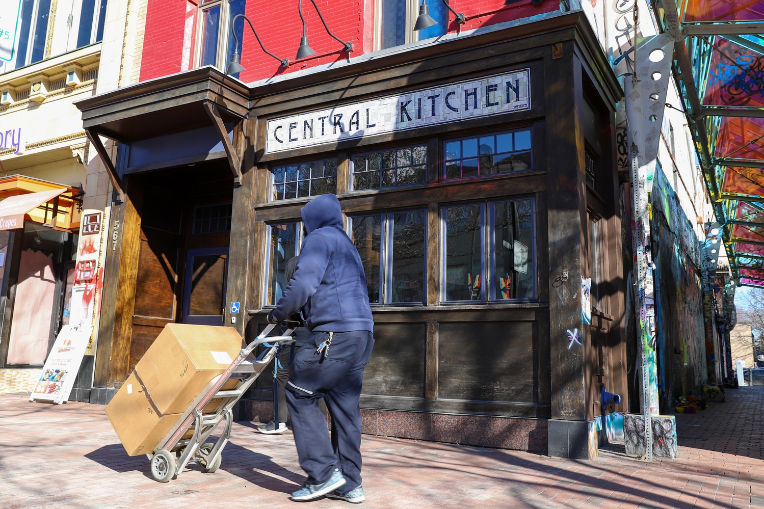 Central Kitchen, a bar and eatery in Cambridge's Central Square, is being replaced by Western Front, a marijuana dispensary.