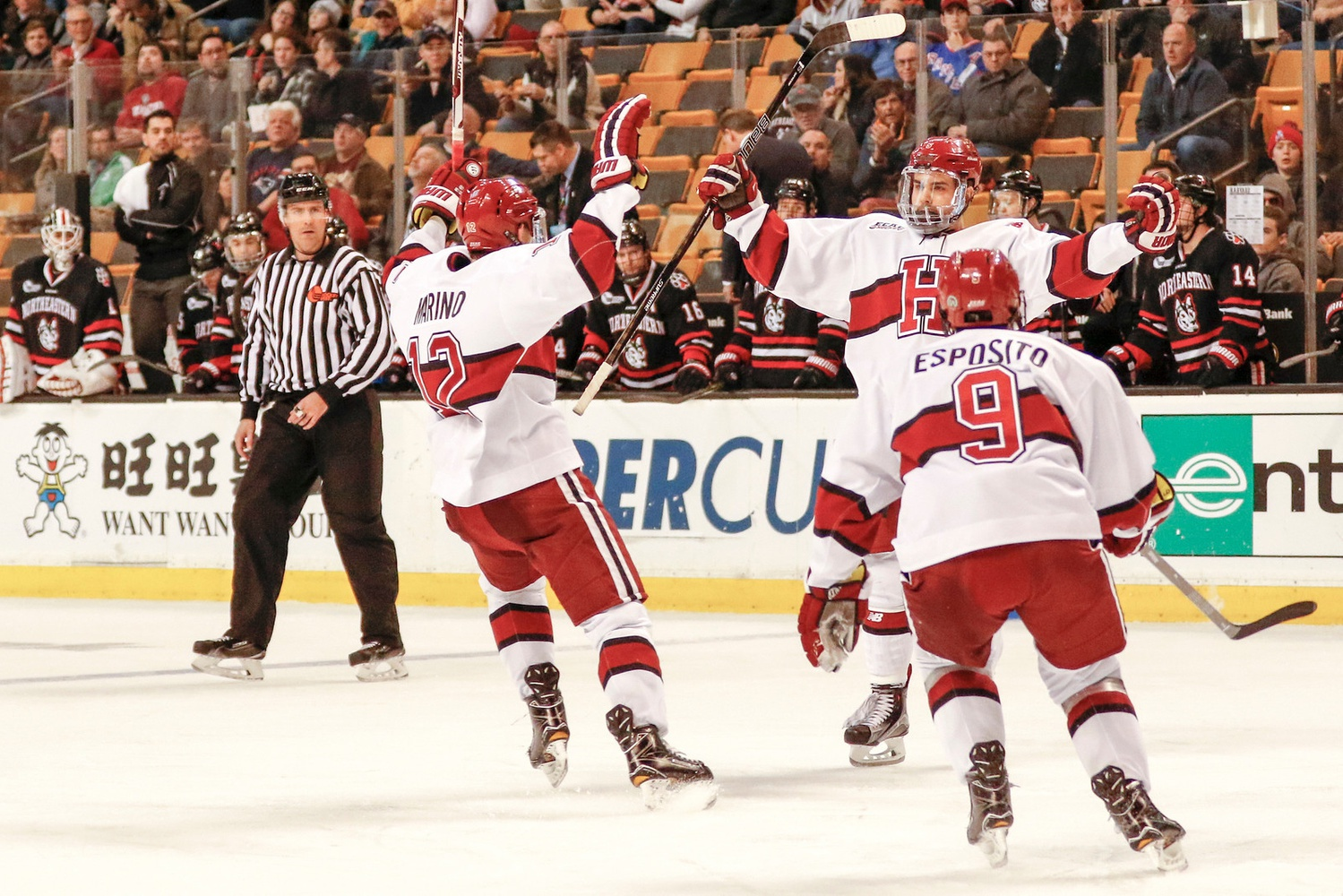 In 2017, Harvard took down Northeastern in the Beanpot semifinal round en route to its first tournament crown since 1993.