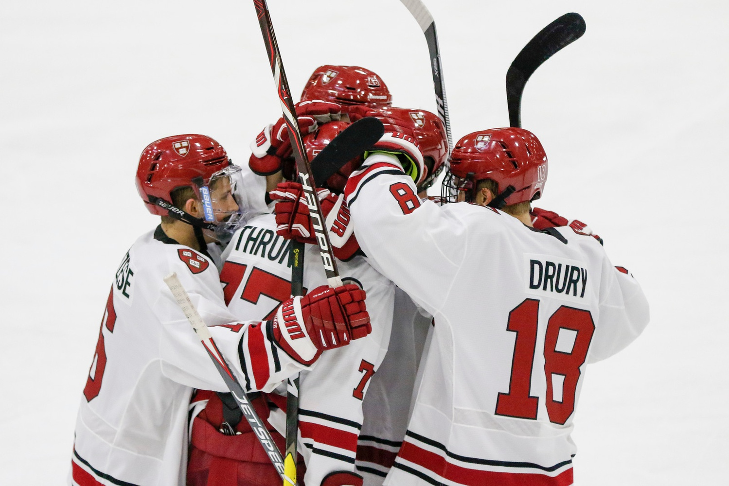 The Crimson begins its quest for supremacy among Boston hockey schools on Monday, when it engages with the Huskies in the first game of the semifinal round.