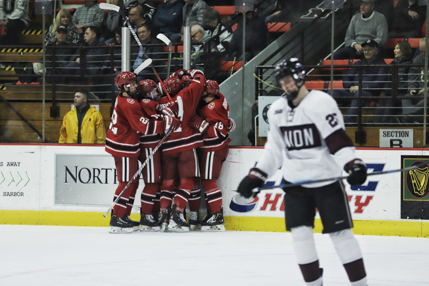 The Crimson scored a season-high eight goals in Friday night's clash at Union's barn.