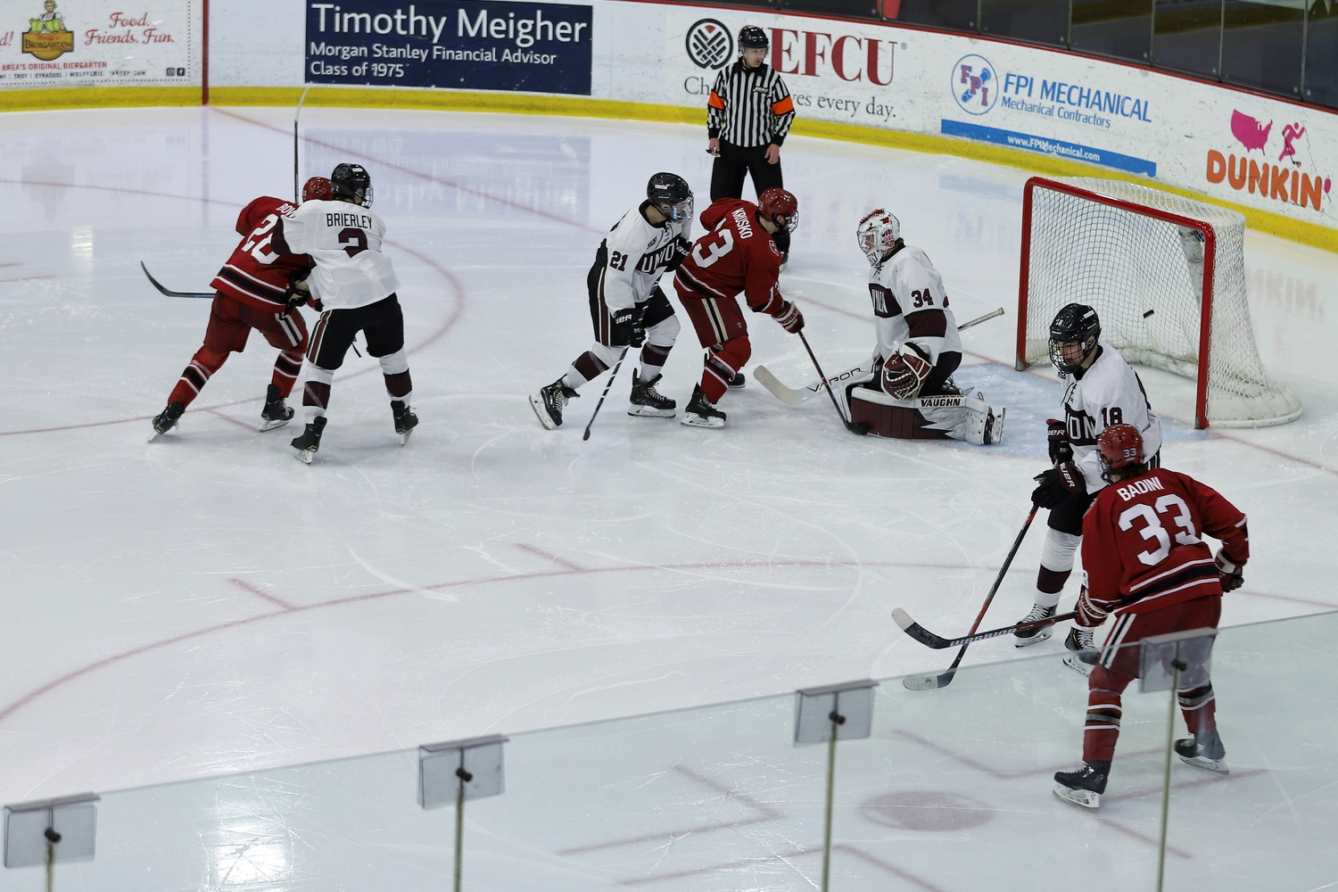 Harvard's first strike of the night came off a redirect from junior Henry Bowlby.