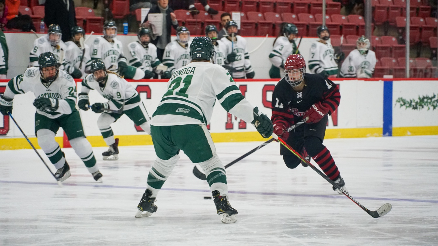 Sophomore forward Kristin Della Rovere facilitated the Crimson's offense in the win over the Big Green, leading the squad with two assists.